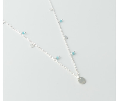 Collier Argent Pierre Amazonite 2