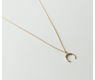 Collier Plaqué Or Lune