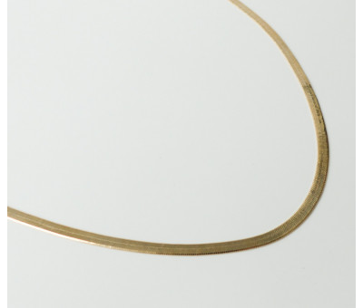 Collier Plaqué Or Snake