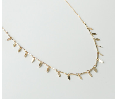 Collier Plaqué Or Plume