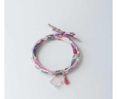 Bracelet Cordon Liberty Quartz Rose